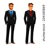 elegant young man in business... | Shutterstock .eps vector #234185869