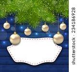 illustration navidad greeting... | Shutterstock .eps vector #234186928