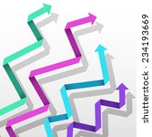 colorful paper arrow background.... | Shutterstock .eps vector #234193669