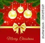 christmas greeting card  with... | Shutterstock .eps vector #234195169