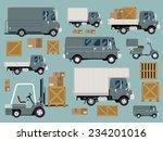 vector modern creative flat... | Shutterstock .eps vector #234201016