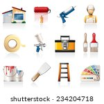 house painting icons | Shutterstock .eps vector #234204718