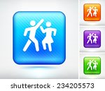 people dancing on blue square... | Shutterstock .eps vector #234205573