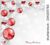 background with christmas balls | Shutterstock .eps vector #234205783