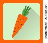 illustration of carrot isolated.... | Shutterstock .eps vector #234205804