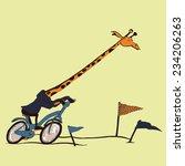 Funny Giraffe  Cycle Race....