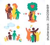 happy family icon multicolored... | Shutterstock .eps vector #234208489