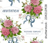 floral background with roses ... | Shutterstock .eps vector #234213928