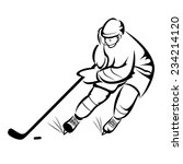 ice hockey player | Shutterstock .eps vector #234214120