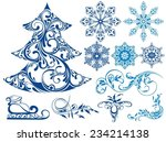 set of christmas elements | Shutterstock .eps vector #234214138