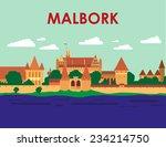 malbork castle | Shutterstock .eps vector #234214750