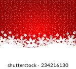 christmas red background  | Shutterstock . vector #234216130