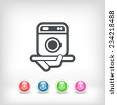 washing machine icon | Shutterstock .eps vector #234218488