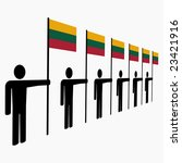 line of men holding lithuanian... | Shutterstock .eps vector #23421916