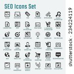 seo related big vector icon set | Shutterstock .eps vector #234224119