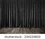 dark grey curtains and grunge...   Shutterstock . vector #234224833