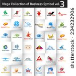 mega collection of vector logo... | Shutterstock .eps vector #234232906