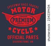 london motorcycle typography  t ... | Shutterstock .eps vector #234239434