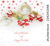 new year greeting card | Shutterstock . vector #234241048