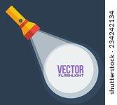 yellow flashlight in vector... | Shutterstock .eps vector #234242134