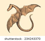 dragon  sketch style... | Shutterstock .eps vector #234243370