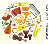 classical musical instruments... | Shutterstock .eps vector #234245890