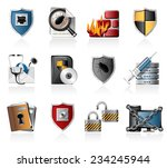 network security icons | Shutterstock .eps vector #234245944
