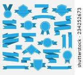 blue ribbons medal award set... | Shutterstock .eps vector #234252673