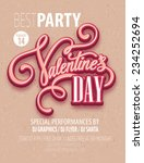 poster valentine's day party.... | Shutterstock .eps vector #234252694