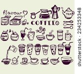 set of hand drawn tea and... | Shutterstock .eps vector #234253348