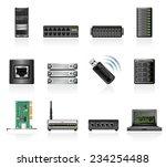 network hardware icons | Shutterstock .eps vector #234254488