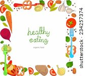 background with bright healthy... | Shutterstock .eps vector #234257374