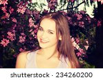 attractive young woman outdoor... | Shutterstock . vector #234260200