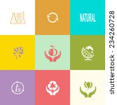 ecology set. flat color vector... | Shutterstock .eps vector #234260728