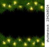 yellow led christmas lights on... | Shutterstock .eps vector #234268024