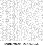 seamless pattern of... | Shutterstock .eps vector #234268066