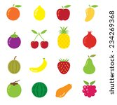 icons set   mixed fruits | Shutterstock .eps vector #234269368