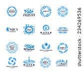 water company aqua mineral logo ... | Shutterstock .eps vector #234269536