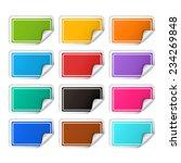 vector realistic rectangular... | Shutterstock .eps vector #234269848