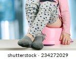 children's legs hanging down... | Shutterstock . vector #234272029