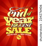 end of year biggest sale design. | Shutterstock .eps vector #234276406