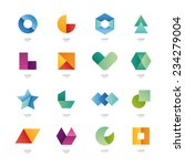Collection of abstract blank symbols. Simple geometric shapes. | Shutterstock vector #234279004