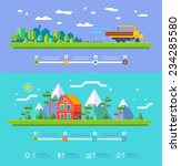 vector ecology illustration... | Shutterstock .eps vector #234285580