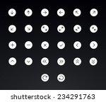 arrows icon set   vector