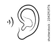 ear icon | Shutterstock .eps vector #234291976