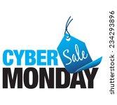 cyber monday sale   Shutterstock .eps vector #234293896