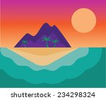 desert island vector art   Shutterstock .eps vector #234298324