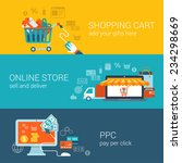 shopping icons | Shutterstock .eps vector #234298669