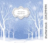 christmas background. snow... | Shutterstock .eps vector #234299494