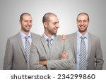 smiling businessman... | Shutterstock . vector #234299860